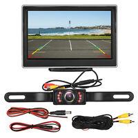 """5"""" TFT LCD Car Rear View System Monitor + Night Vision Backup Reverse Camera Kit"""
