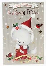 Christmas Card For A Special Friend Greeting Verse Luxury Cute Xmas Foil