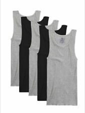 Fruit of the Loom Men's Dual Defense Black/Grey A-Shirt Undershirts - 5 Pack