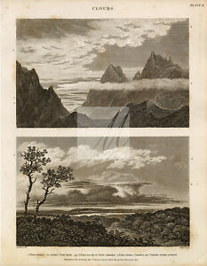 VINTAGE Clouds Print - Rees' Encyclopedia 1800s #G189
