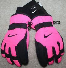 New! Girls Nike Ski Gloves (Snow; Winter; Pink/Black) - Child Size 4-5-6X