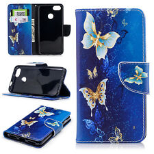 For Huawei P9 Lite 2017 Butterfly Painted Slim Leather Case Flip Wallet Cover