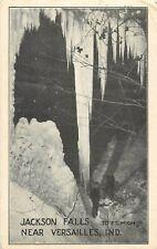 1923 Jackson Falls Near Versailles, Indiana Postcard