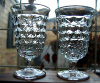 """Fostoria American Crystal 5 1/2"""" Low Water Goblet Set of two (2)"""