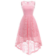 Women Lace Mermaid High Low Dress Cocktail Wedding Evening Party Dresses Gown