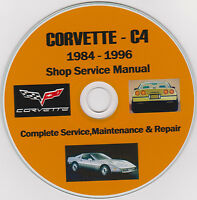 Corvette C-4 1984 -1996 SHOP-SERVICE-MANUAL,Ultimate Manual Collection EXTRA'S !