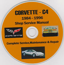 Corvette C-4 1984 -1996  SHOP - SERVICE - REPAIR - MAINTENANCE MANUAL