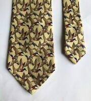 Mallard Duck Ducks Design Funky Stylish 100% Silk Men's Necktie Ties