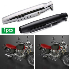 Black Motorcycles Slip-On Exhaust Muffler Pipe  For Harley Bobber Chopper Cafe