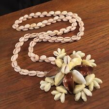 Vintage Hawaii Shell Lei Necklace Luau PRIORITY MAIL