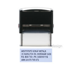 Personalised Self Inking Rubber Stamp Custom Business Name Address LARGE