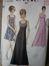 VINTAGE 1970'S STYLE LINED EVENING DRESSES SEWING PATTERN