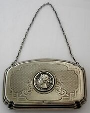 GORGEOUS AMERICAN VICTORIAN COIN SILVER OR STERLING MEDALLION COIN PURSE 1865