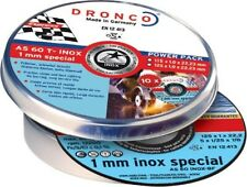 DRONCO Cutting / Slitting Discs AS60  - 115mm x 1mm - Pack 10 in a tin