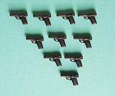 Playmobil Ersatzteile Polizei Dienst-Pistolen, Waffen für Polizei Beamte 10 St.
