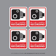 Sku2300/32 - Set di 4 in Auto Telecamera Auto Registrazione Adesivo Segno-CCTV-Dashcam