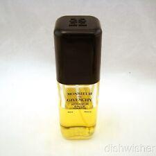 MONSIEUR DE GIVENCHY Eau de Toilette Spray 3 1/3 oz 100 ml VTG, X FULL, Crack
