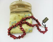 Honora Cherry Red Baroque Cultured Pearl Necklace - NWT
