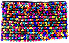 Multi Color Beats Lace on Black base - 9 Meter Roll