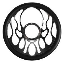 billet flame steering wheel ebay Trailblazer SS Steering Wheel southwest speed 14 steering wheel chrome plated billet w black wrap flames