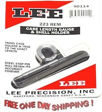 90114 Lee Case Length Gage  and  #4 Shellholder .223 REMINGTON 5.56mm 90114 New!