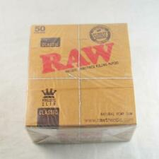 100x Booklets Raw King Size Slim Classic Natural Unrefined Rizla Rolling Papers