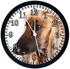 Afghan Hound Black Frame Wall Clock Nice For Decor or Gifts F26