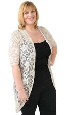 67ecb0162c New Ladies Plus Size 3/4 Sleeve Womens Floral Lace Long Kimono Cardigan  Cover Up