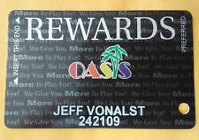 Oasis Hotel Casino Mesquite, Nevada Member Slot Card Great For Any Collection!