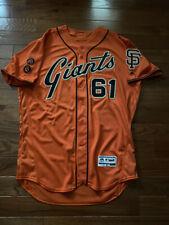 2016 JOSH OSICH SF Giants GAME USED WORN ORANGE ALT GIANTS Jersey MLB HOLOGRAM