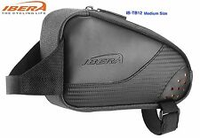 Bike Top Tube Bag Bicycle Frame Pouch Outdoor Reflective Strap-on IBERA IB-TB12M