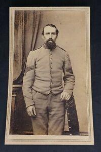 Antique Cabinet Photo - Civil War Soldier John L. Robbins of New Hampshire