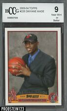 2003-04 Topps #225 Dwyane Wade Miami Heat RC Rookie BCCG 9