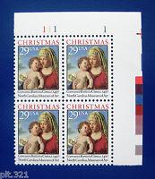 Sc # 2789 ~ Plate # Block ~  29 cent Madonna and Child by Giovanni Battista Cima