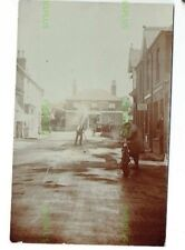 OLD POSTCARD STATION ROAD EAST LISS HANTS POST OFFICE MOTORCYCLE ETC REAL PHOTO