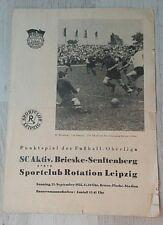 Programm SC Rotation Leipzig Brieske Senftenberg 25.9.1955 DDR 1.FC Lok Leipzig