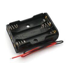 3 Slots AAA Battery Case Power Battery holder Storage Plastic Box Lead 4.5V DC