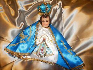 nino dios/baby Jesus Hermoso Vestido de la inmaculada medida 15 cms con defecto