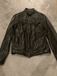 All Saints Leather Jacket Small Mens, Great Condition, £290 When New