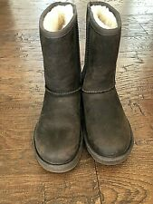 UGG Essential Short Leather Boot Size 5   Brown  MSRP $190.00