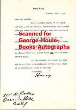 Harry Ruby - Letter - Autograph - Eddie Mannix - N Y Yankees -Gambling Debt