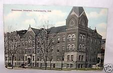 1910'S POSTCARD-DEACONESS HOSPITAL-INDIANAPOLIS IN-USED