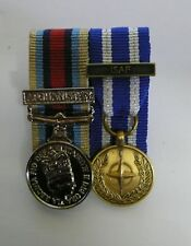 OSM Afghanistan & NATO ISAF Miniature Court Mounted Ready for DISPATCH