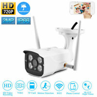 HD 720P WIFI IP Camera Wireless Home Security Waterproof IR Night Vision Camera