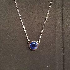 1.21ct Ceylon Sapphire Peretti Style Necklace In 14k White Gold