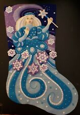 """Finished Bucilla """" Snow Princess 18"""" Christmas Stocking - Handstitched"""