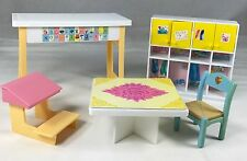 Barbie Kelly School Furniture 2 Tables Chair Cupboard Desk Very Good by Mattel
