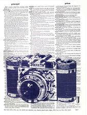Art N Wordz Paxette Camera Original Dictionary Sheet Pop Art Wall/Desk Print