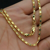 Hip-Hop 18K Gold Plated Stainless Steel Rope Chain Men Necklace Jewelry Gift