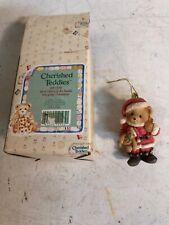 Cherished Teddies 651370 Bear Dressed As Santa